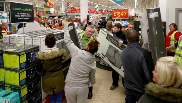 Shoppers at ASDA in west Belfast on Black Friday sales across Northern Ireland
