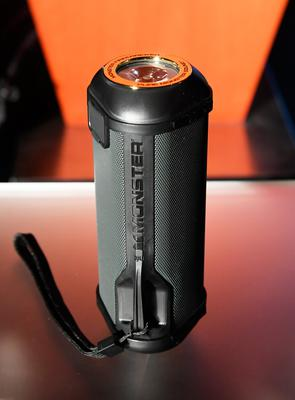 LAS VEGAS, NV - JANUARY 04:  The new SuperStar FireCracker portable Bluetooth speaker by Monster is displayed during a press event for CES 2017 at the Mandalay Bay Convention Center on January 4, 2017 in Las Vegas, Nevada. CES, the world's largest annual consumer technology trade show, runs from January 5-8 and is expected to feature 3,800 exhibitors showing off their latest products and services to more than 165,000 attendees.  (Photo by Ethan Miller/Getty Images)