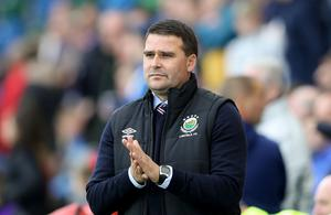 Linfield manager David Healy during Wednesday night's Champions League qualifier 1st round 1st leg tie against S.P. La Fiorita at the National Stadium at Windsor Park, Belfast. [Photo by William Cherry/Presseye 280617]