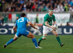 ROME, ITALY - MARCH 16:  Brian O'Driscoll of Ireland in action during the RBX Six Nations match between Italy and Ireland at Stadio Olimpico on March 16, 2013 in Rome, Italy.  (Photo by Tom Shaw/Getty Images)