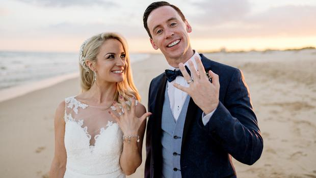 ROMANCE: Holly Hamilton and Connor Phillips on their wedding day in 2018