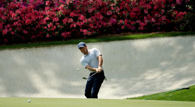 Rory McIlroy begins his practice for the Masters on Monday.