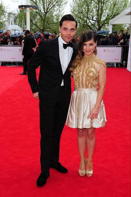 Andy Jordan and Louise Thompson arriving for the 2013 Arqiva British Academy Television Awards at the Royal Festival Hall, London. PRESS ASSOCIATION Photo. Picture date: Sunday May 12, 2013. See PA story SHOWBIZ Bafta. Photo credit should read: Ian West/PA Wire