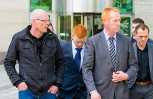 William Ross Casement leaves court. Photo by Kevin Scott / Belfast Telegraph.