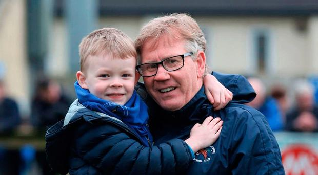 Happy times: Harry McConkey with grandson Harry