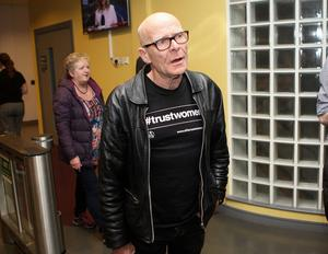 Eamonn McCann pictured at the election count at Foyle Arena Derry for Foyle and East Londonderry. Photo by Freddie Parkinson / Press Eye.