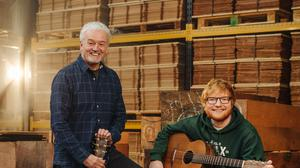 Ed Sheeran and George Lowden (Bradley Quinn/Lowden Guitars/PA)