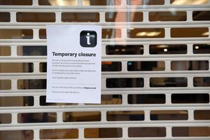 A closed Argos store in Belfast (Justin Kernoghan/PA)