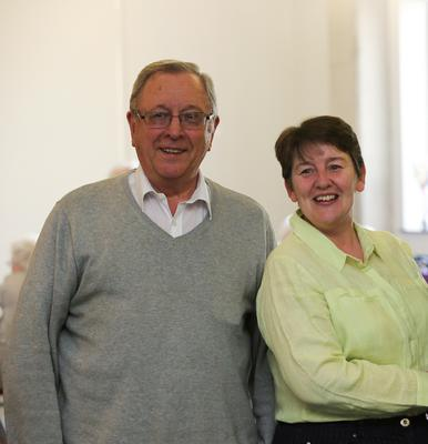 Friendly faces: David McMillen and Age NI chief executive Linda Robinson