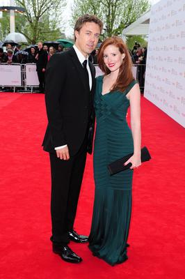 Andrew Buchan and wife Amy Nuttall arriving for the 2013 Arqiva British Academy Television Awards at the Royal Festival Hall, London. PRESS ASSOCIATION Photo. Picture date: Sunday May 12, 2013. See PA story SHOWBIZ Bafta. Photo credit should read: Ian West/PA Wire