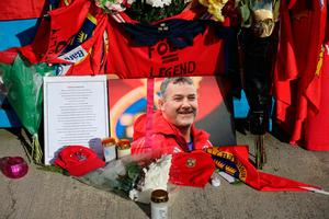 Tributes to Munster Rugby Coach Anthony Foley At Thomond Park in Limerick. PRESS ASSOCIATION Photo. Picture date: Wednesday October 19, 2016. See PA story RUGBYU Munster. Photo credit should read: Niall Carson/PA Wire