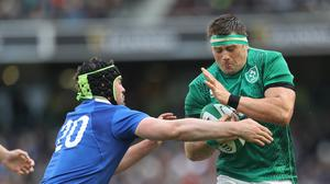CJ Stander, right, is ready to play his third match in 11 days at the World Cup (Lorraine O'Sullivan/PA)