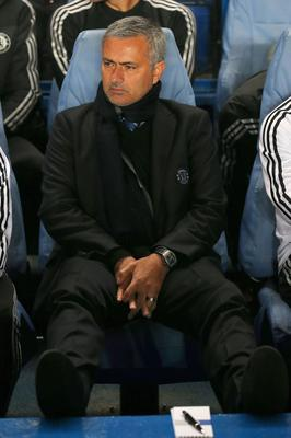 LONDON, ENGLAND - SEPTEMBER 18:  Manager Jose Mourinho of Chelsea looks on during the UEFA Champions League Group E Match between Chelsea and FC Basel at Stamford Bridge on September 18, 2013 in London, England.  (Photo by Clive Rose/Getty Images)