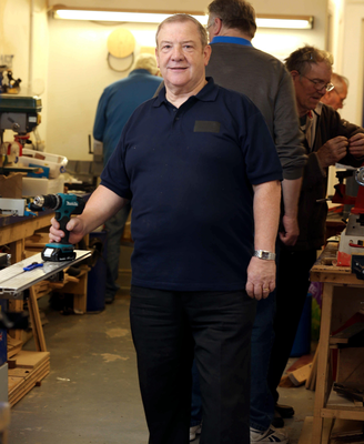 Friendly face: Billy McCord values the camaraderie at the Men's Shed