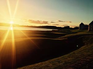 The sun sets over the grounds of Lough Erne Resort, Co Fermanagh.