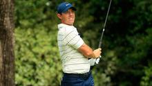Rory McIlroy of Northern Ireland plays his shot from the second tee during the second round of the Masters (Andrew Redington/Getty Images)