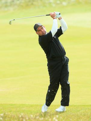 NEWCASTLE, NORTHERN IRELAND - MAY 28:  Hennie Otto of South Africa hits his 2nd shot on the 3rd hole during the First Round of the Dubai Duty Free Irish Open Hosted by the Rory Foundation at Royal County Down Golf Club on May 28, 2015 in Newcastle, Northern Ireland.  (Photo by Andrew Redington/Getty Images)
