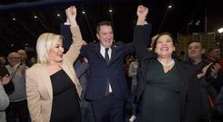 John Finucane at the General Election count in Belfast on December 12th 2019 (Photo by Kevin Scott for Belfast Telegraph)
