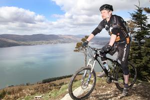 Ian Cumming, director of East Coast Adventure, on a mountain biking course which will host dozens of elite competitors in the World Police and Fire Games in Northern Ireland