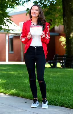 Picture - Kevin Scott / Belfast Telegraph  Belfast - Northern Ireland - Thursday 13th August 2015 - A Level Results Day   Pictured is Natasha Dornan 2A* and an A during A level results day at Lagan Collage  Picture - Kevin Scott / Belfast Telegraph