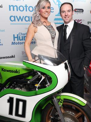 North West 200 hero Alastair Seeley pictured with his wife Danni. Picture by Stephen Davison.