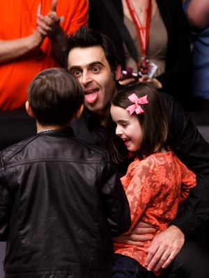 Ronnie O'Sullivan celebrates after winning the snooker Masters John Walton/PA Wire