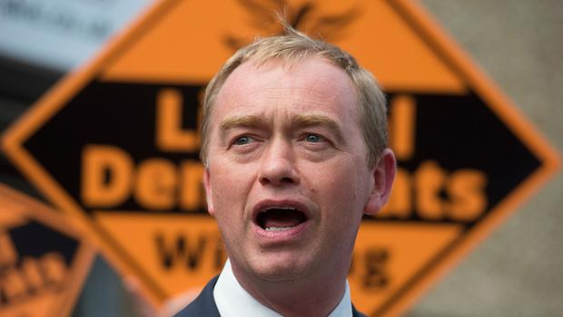 Liberal Democrats leader Tim Farron visits local voters at the campaign office in Carshalton during the final day of the General Election campaign trail. PRESS ASSOCIATION Photo. Picture date: Wednesday June 7, 2017. See PA ELECTION stories. Photo credit should read: Victoria Jones/PA Wire