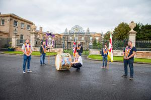 As part of their 12th of July celebrations, Hillsborough District LOL No 19 had lambeg drummers playing at three venues in the town  the Castle, the War Memorial and the Orange Hall. Pic Graham Baalham-Curry