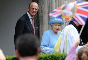 Pacemaker Press 26/6/2012  The Queen and Prince Philip are welcomed by thousands of People in Enniskillen  during  a two-day visit to Northern Ireland as part of her Diamond Jubilee tour. The Queen has met relatives of the victims of an IRA bombing in Enniskillen, County Fermanagh, 25 years ago , She will visit Belfast on Wednesdays and meet with deputy first minister Martin McGuinness    Pic Colm Lenaghan/Pacemaker