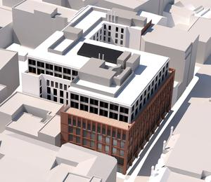 The new proposed scheme at Norwich Union House