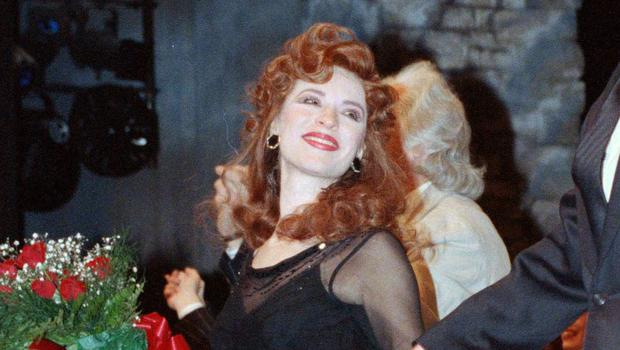 Ann Crumb at the curtain call for the Andrew Lloyd Webber musical Aspects Of Love on opening night in New York (Ed Bailey/AP