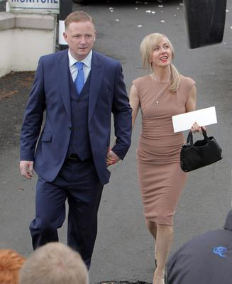 SUNDAY LIFE- News Former Man United player David May at the Wedding of Manchester United footballer Jonny Evans and Man United TV reporter Helen McConnell at Clough Presbyterian Church.  Picture Colm O'Reilly Sunday Life 1-05-2013