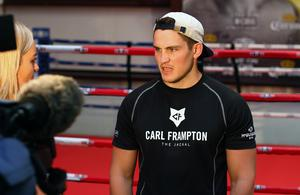 Press Eye - Belfast -  Northern Ireland - 15th July 2015 - Trainer Shane McGuigan is pictured speaking to media during an open training session in El Paso, Texas before Carl Frampton defends his IBF World title against Alejandro Gonzalez Jr on Saturday evening.  Picture by Jorge Salgado / Press Eye