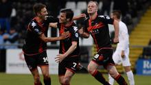 Eu beauty: Philip Lowry opens the scoring for Crusaders last night