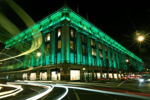 Selfridges in London joined Tourism Ireland's Global Greening initiative (Tourism Ireland/PA)