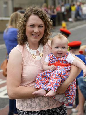 Pictured is Jennifer and Penni McKibbin at the Ballymartin and Kilkeel 12th of July celebrations. Picture Mark Marlow