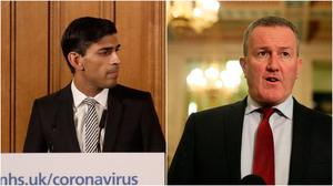 Chancellor Rishi Sunak and Stormont Finance Minister Conor Murphy announce emergency measures to protect the economy during the Covid-19 crisis