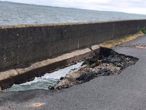 The hole on the Shore Road, Portaferry.