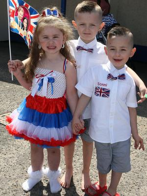 Mandatory Credit - Picture by Freddie Parkinson/Press Eye © Saturday 19 May 2018 Linfield Supporters Social Club, 1 Jumna Street, Belfast. Community First Wedding Party. Alayna Orr (3), Maddox (5) and Sonni (3) Tahiri