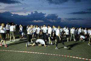Press Eye - Belfast -  Northern Ireland - 24th June 2015 - Athletes at the start line of the first ever Grant Thornton Runway Run at Belfast City Airport this evening. Picture by Kelvin Boyes / Press Eye.