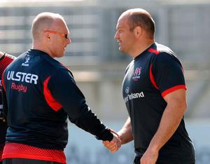 Neil Doak working with Rory Best