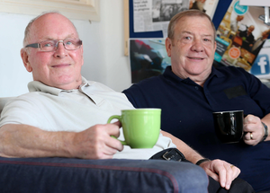 Tea time: Roy Esdale (left) and Billy McCord