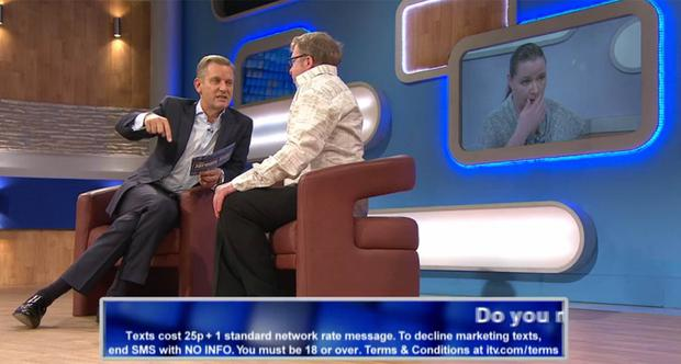Sunday Life News Jeremy Kyle show. Trevor Begley and partmer Rosemary from Ballymoney