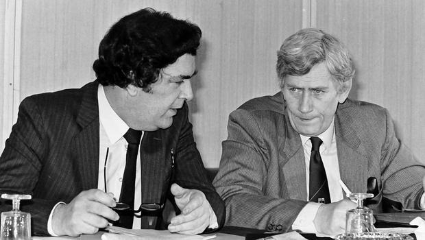PACEMAKER BELFAST  archive  30/01/1984 SDLP leaders John Hume & Seamus Mallon at annual Conference at the Forum Hotel