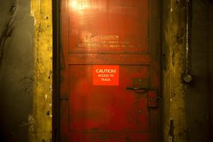 LONDON, ENGLAND - APRIL 13:  A door between the tunnel and tracks in the Down Street underground station on April 13, 2016 in London, England. London Transport Museum will be giving tours as part of their new 'Hidden London' season beginning May 7, 2016.Down Street station in Mayfair operated between 1907 and 1932 and after closing, played an important part during the Second World War when it was transformed into the Railway Executive Committee's bomb proof shelter. During the height of the Blitz, British Prime Minister Winston Churchill took refuge in the station tunnels.  (Photo by Dan Kitwood/Getty Images)