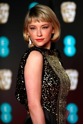Haley Bennett attending the EE British Academy Film Awards held at the Royal Albert Hall, Kensington Gore, Kensington, London. PRESS ASSOCIATION Photo. Picture date: Sunday February 18, 2018. See PA Story SHOWBIZ Bafta. Photo credit should read: Yui Mok/PA Wire.