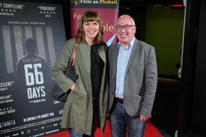 Press Eye Belfast - Northern Ireland - 31st July 2016    Rita Harkin and Stephen Douds are pictured at the film premiere of Bobby Sands: 66 Days at the Omniplex Cinema at the Kennedy Centre in west Belfast.  The premiere was hosted with Féile An Phobail and West Belfast Film Festival.  Photo by Kelvin Boyes  / Press Eye