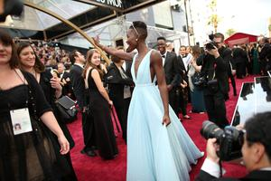 HOLLYWOOD, CA - MARCH 02:  Actress Lupita Nyong'o attends the Oscars at Hollywood & Highland Center on March 2, 2014 in Hollywood, California.  (Photo by Christopher Polk/Getty Images)