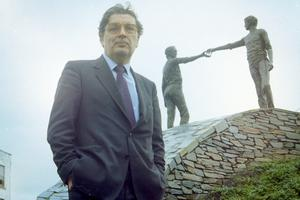 John Hume photographed in Derry for his 25th year in politics celebration.