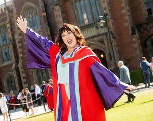 Ciara Keenan from Cookstown, Co. Tyrone, graduates with a Doctor of Philosophy from the School of Social Sciences, Education and Social Work at Queen's University.
